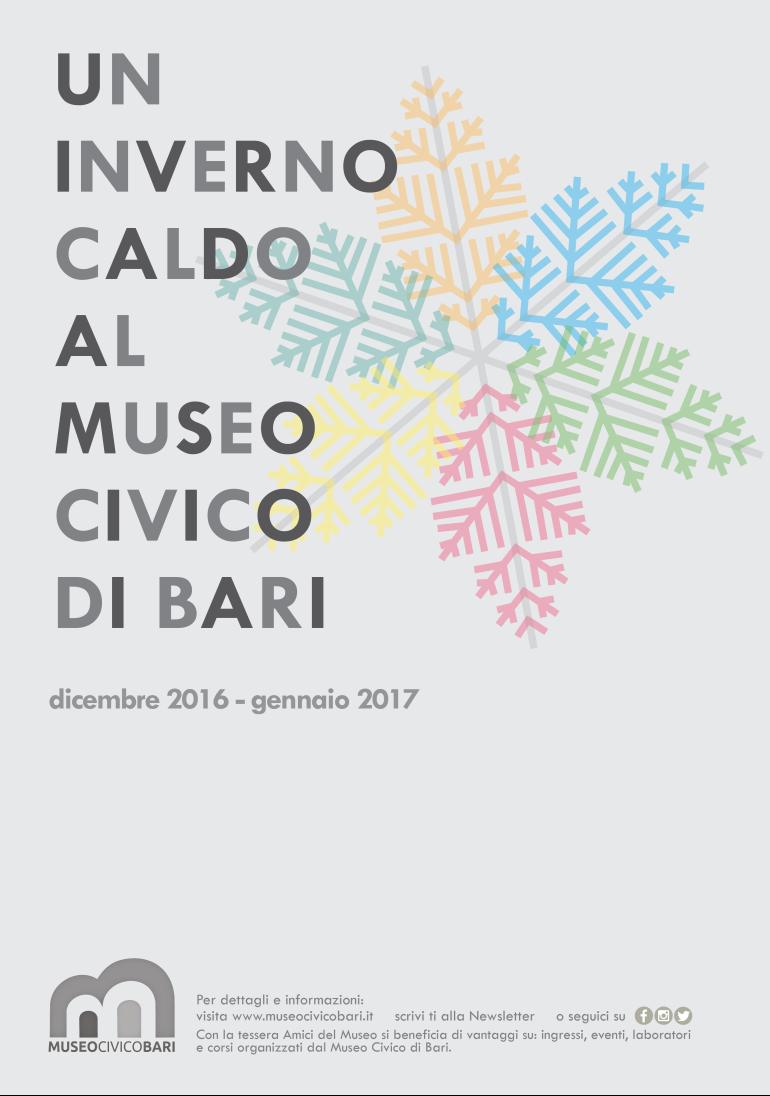 programma dicembre gennaio 2017 museo civico bari
