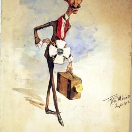 La vi'? - Caricatura raffigurante Liborio Antonelli - Museo Civico Bari