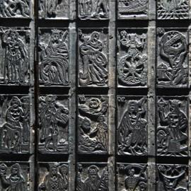 Matrice in legno e zinco utilizzate per la stampa litografica - Murari